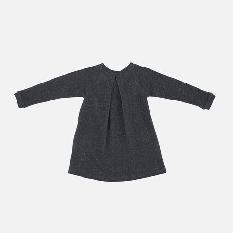 Organic Cotton Sweat Dress - Granite - 2-9y
