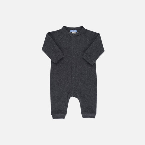Organic Cotton Sweat Baby Suit - Granite - 0m-24m