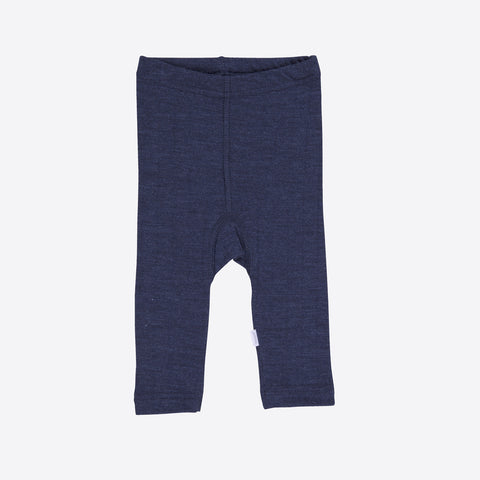 Merino Wool/Silk Baby Leggings - Navy - 1m-2y
