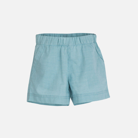 Organic Cotton Light Woven Shorts - Lagoon Square - 3-9y