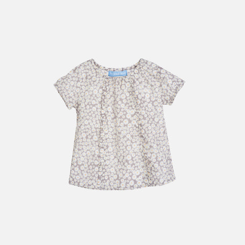 Organic Cotton Light Woven Baby Flair Blouse - Daisys - 3m-2y