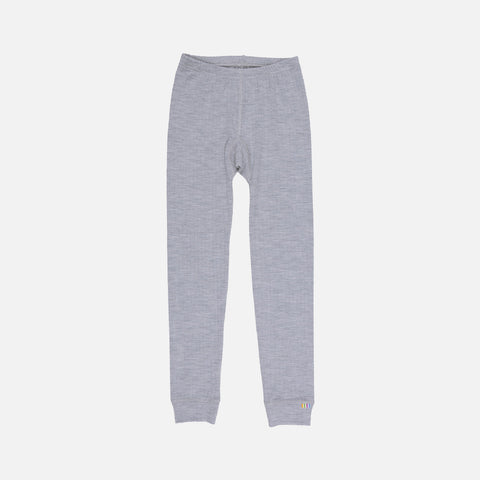 Merino wool leggings - Grey - 2y-12y