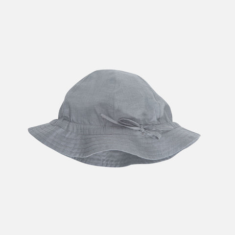 Organic Light Woven Sun Hat - Grey - 1m-11y