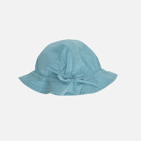 Organic Light Woven Sun Hat - Lagoon Square - 7-11y