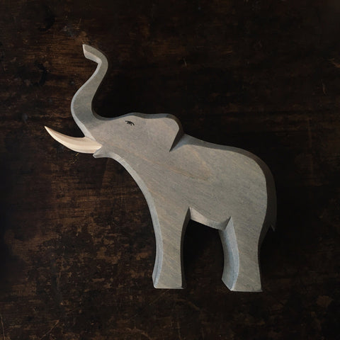 Handcrafted very large bull elephant