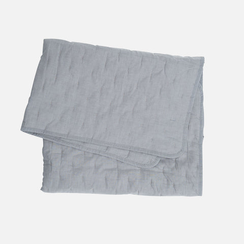100% Organic Cotton Quilt Baby Blanket - Grey