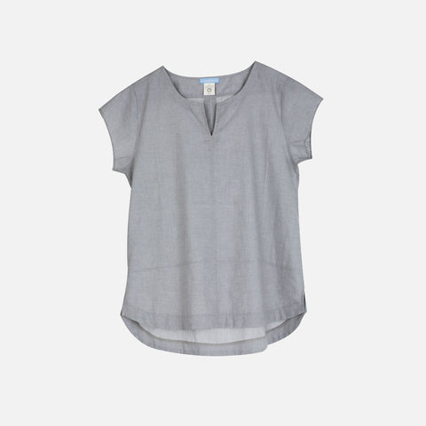 Organic Light Woven Women Shirt - Grey - S-L