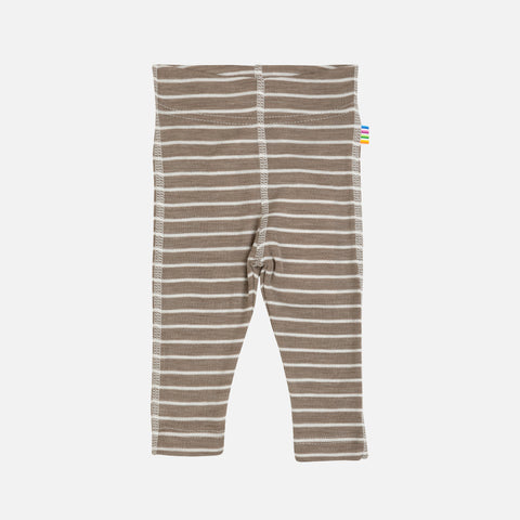 Merino Wool/Silk Leggings - Walnut Stripe - 1m-5y
