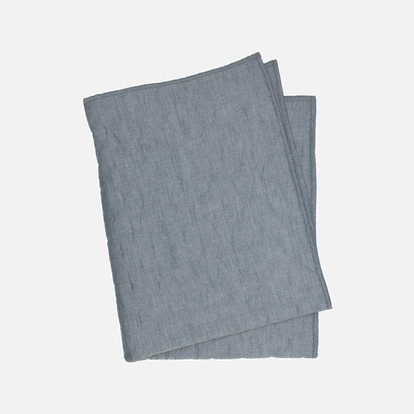100% Organic Cotton Baby Blanket - Midnight Chambray - One Size