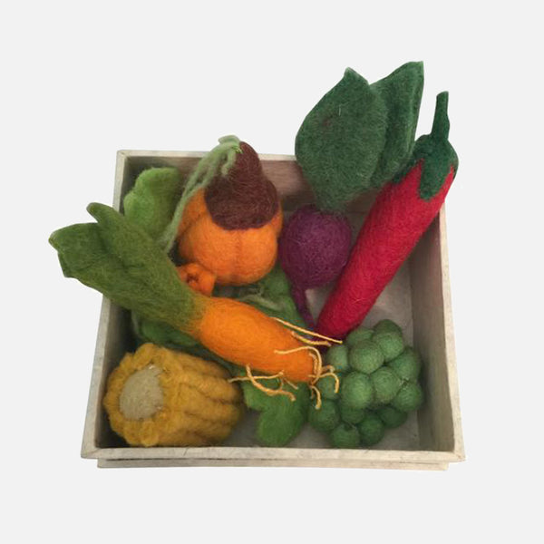 Felted Wool Mini Vegetable Set - Boxed