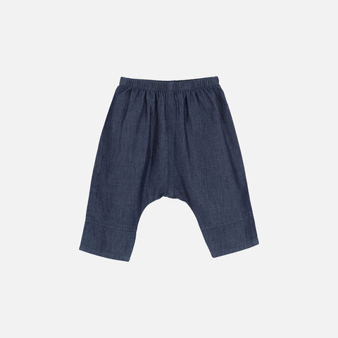 Organic Cotton Baby Pants - Denim - 3m-2y
