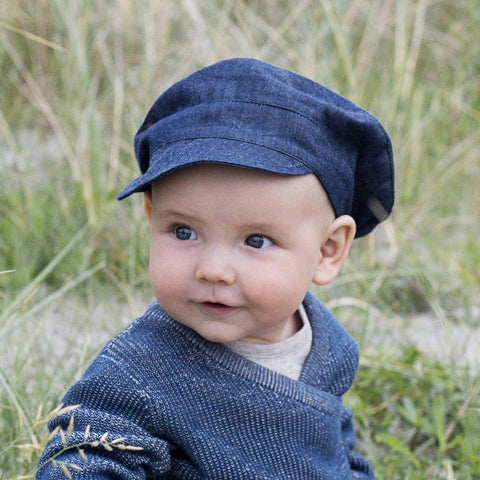 Organic Cotton Cap - Denim - 9m-10y
