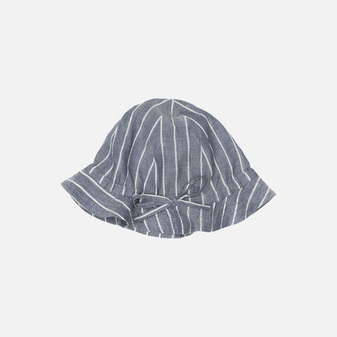 Organic Cotton Summer Hat - Blue Stripe - 1m-6y