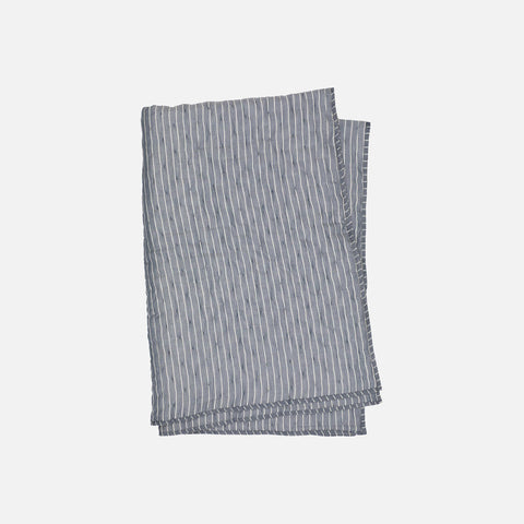 Organic Cotton Quilt Blanket - Blue Stripe - 100x160cm