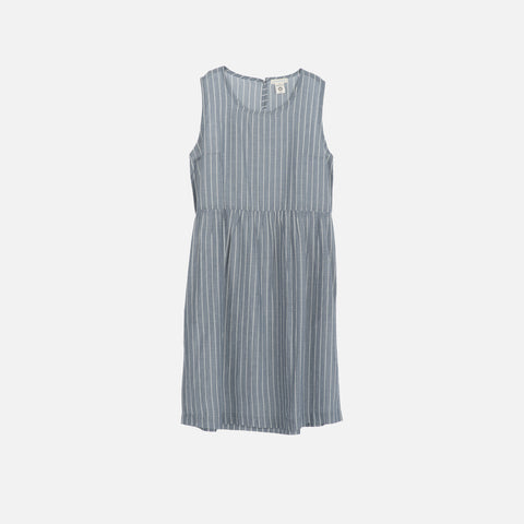 Ladies Organic Cotton Dress - Blue Stripe - S-XL