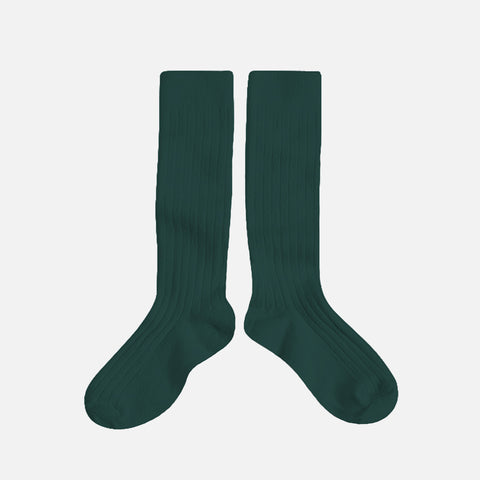 Adult Cotton Knee Socks - Fern