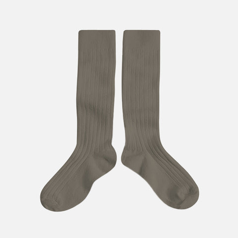 Adult Cotton Knee Socks - Brown Earth