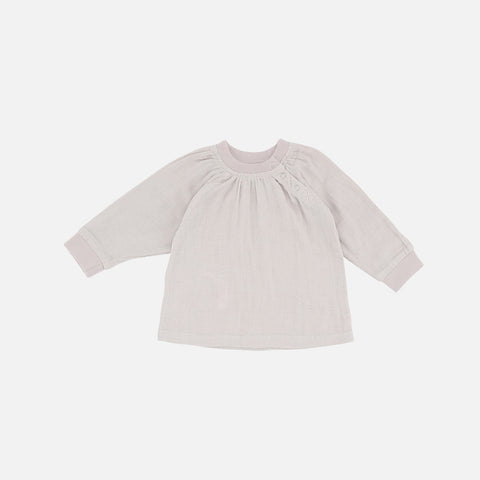 Organic Cotton Muslin Blouse - Nature - 1-2y