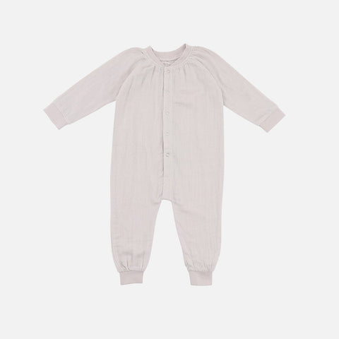 Organic Cotton Muslin Romper - Natural - 0m-3y
