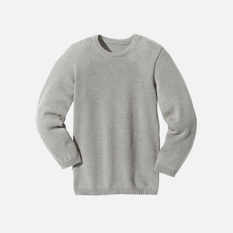 Organic Merino Wool Jumper - Grey