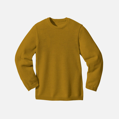 Organic Merino Wool Jumper - Gold