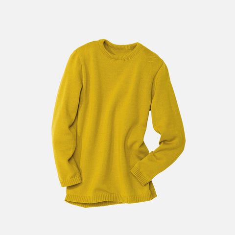 Organic Merino Jumper - Curry