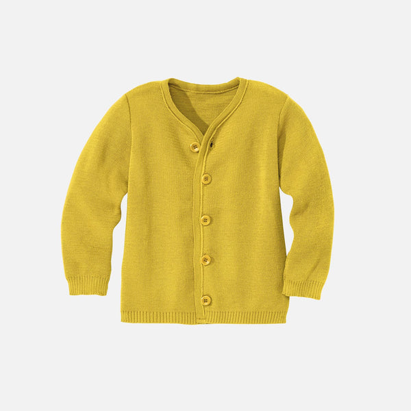 Organic Merino Cardigan - Curry