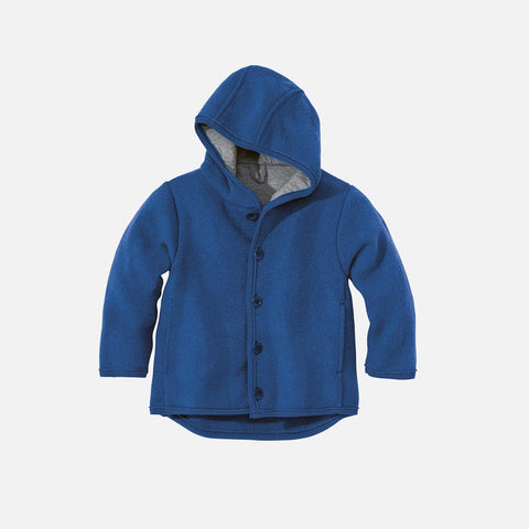 Organic Boiled Merino Jacket - Old Style - New Navy