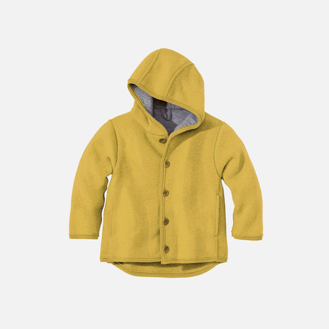 Organic Boiled Merino Jacket - Old Style - Curry