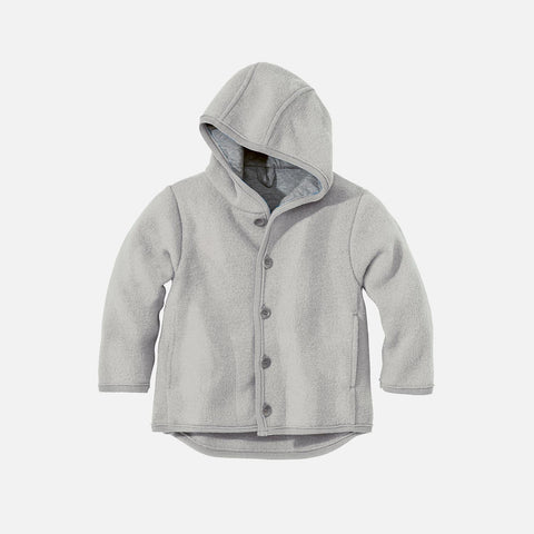 Organic Boiled Merino Jacket - Old Style - Grey