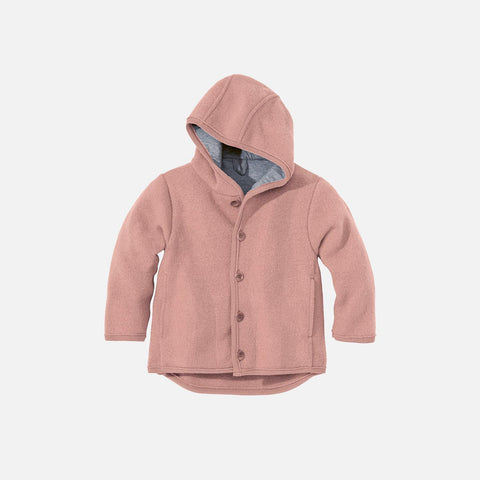 Organic Boiled Merino Jacket - Old Style - Rose