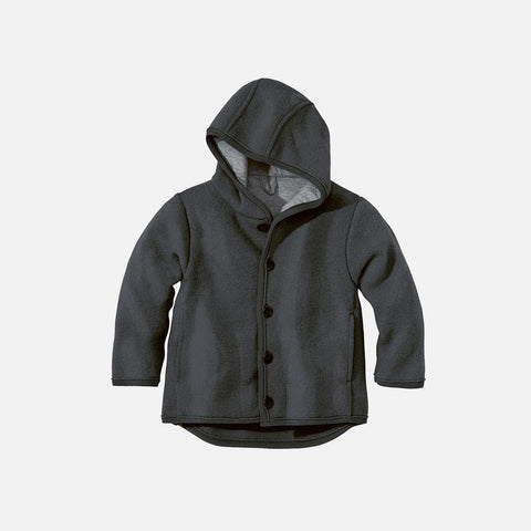 Organic Boiled Merino Jacket - Anthracite - 6m-5y