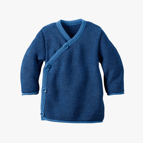 Merino Cardigan - Green, Hazelnut & Blue - 0-3m
