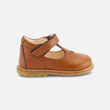 T-Bar Heart Toddler Shoes - Cognac