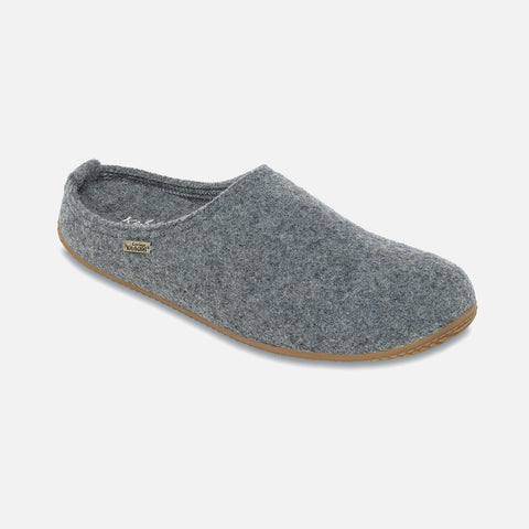 Adult Boiled Wool Slippers - Light Grey - 37-39