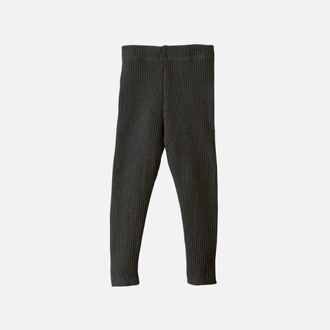 Organic Merino Wool Leggings/Trousers - Anthracite
