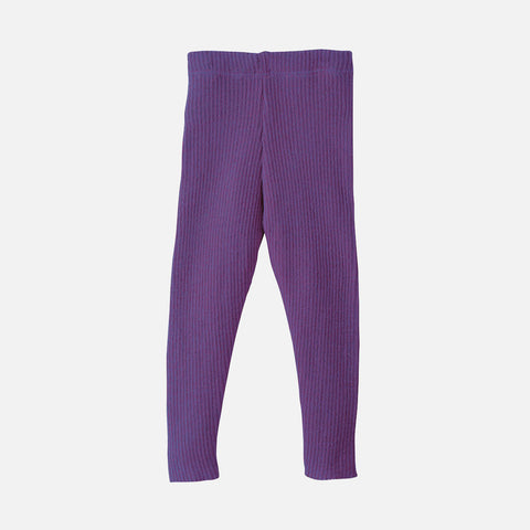 Organic Merino Wool Leggings/Trousers - Plum