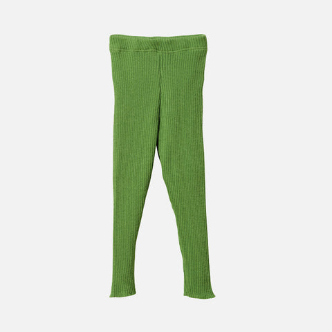 Wool rib leggings/trousers - Green - 0-3m & 4-5y