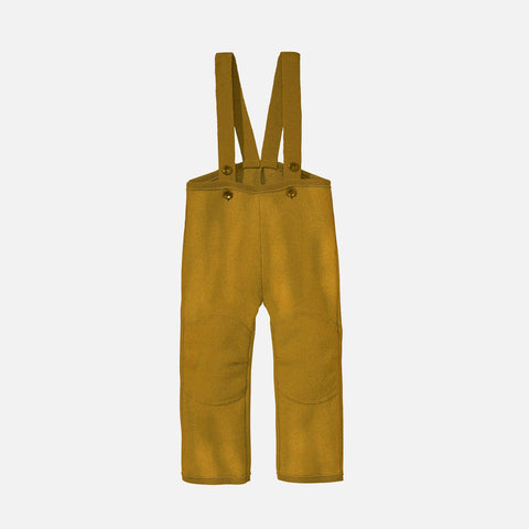 Boiled Wool Dungarees - Gold