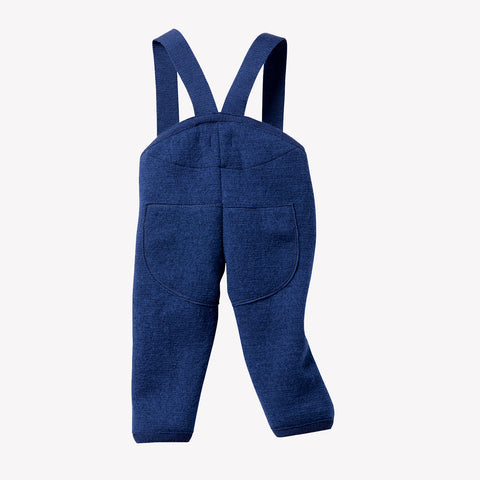 Organic boiled wool dungarees Navy, Grey & Hazelnut