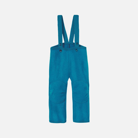 Boiled Wool New Style Dungarees - Teal Blue - 6-12m