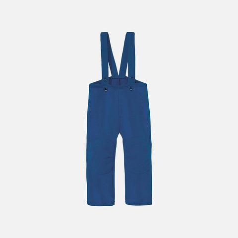 Organic Boiled Wool New Style Dungarees - Navy - 6m-6y
