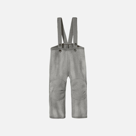 Organic Boiled Wool New Style Dungarees - Grey - 6m-6y