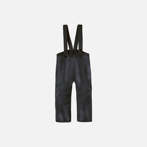Organic Boiled Wool New Style Dungarees - Anthracite - 6-12m