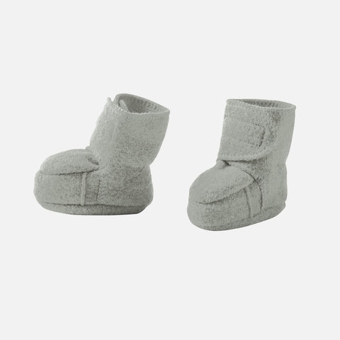 Organic Boiled Wool Booties - Grey