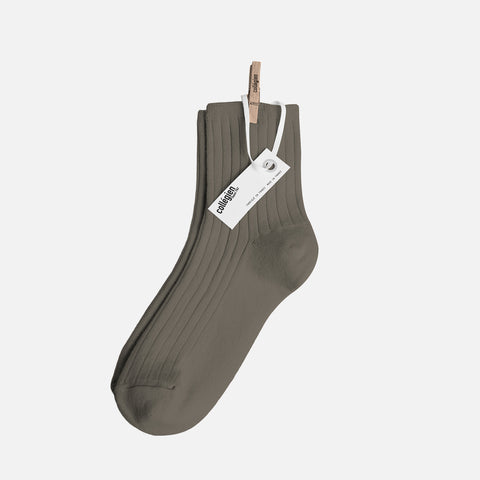 Adult Cotton Short Socks - Brown Earth