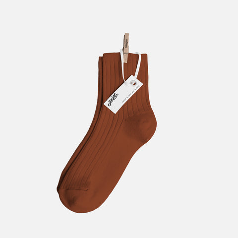 Adult Cotton Short Socks - Cinnamon