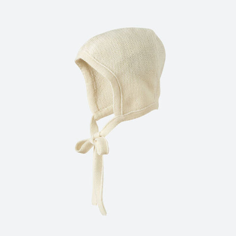 Organic Merino Knitted Bonnet - Natural - 0-10m