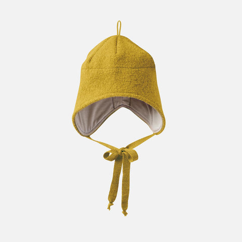 Organic Boiled Merino Hat - Curry - 1-5y