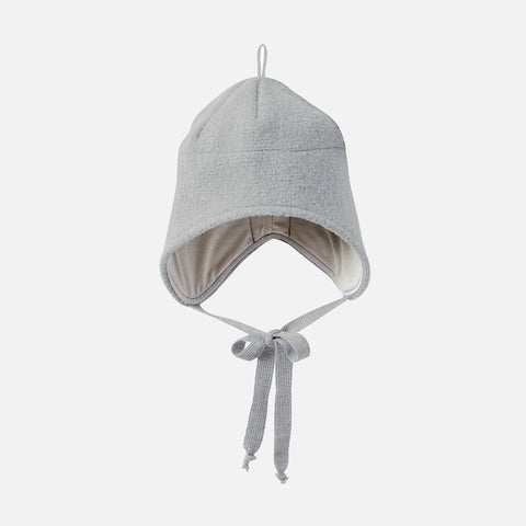 Organic Boiled Merino Hat - Grey - 1-5y